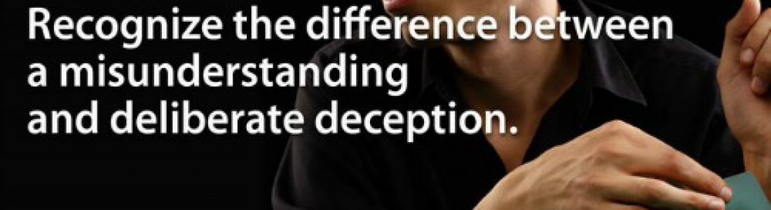 e-MDs Life Tip #17: Misunderstanding Vs Deception